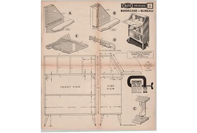 FREE PLAN: Bookcase/Bureau