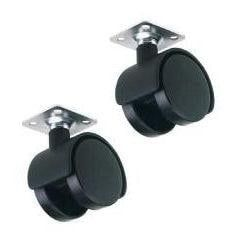 Twin Wheel Castors (Pair)