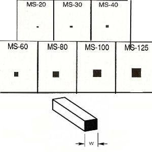Plastruct Solid Square Rod