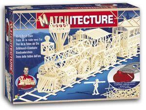 Matchitecture Gold Rush Train Matchstick Kit