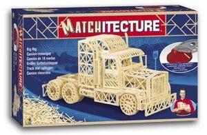 Matchitecture Trailer Truck Matchstick Kit