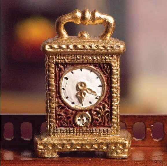 12th Scale Gold Carriage Clock