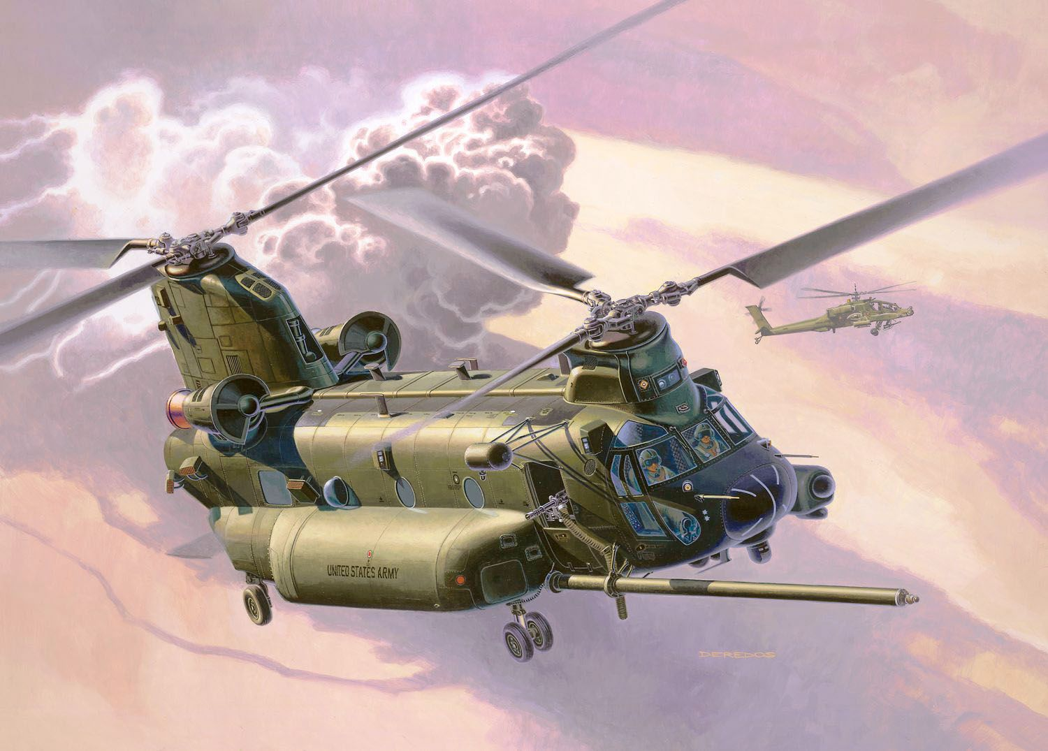 Revell 1/72 Scale Model Set - MH-47E Chinook