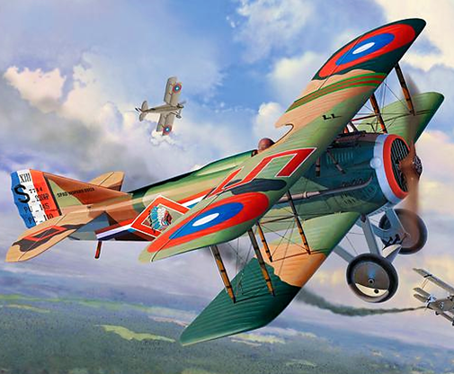 Revell WWI Fighter SPAD XIII 1:28 Scale Plastic Model Plane Kit