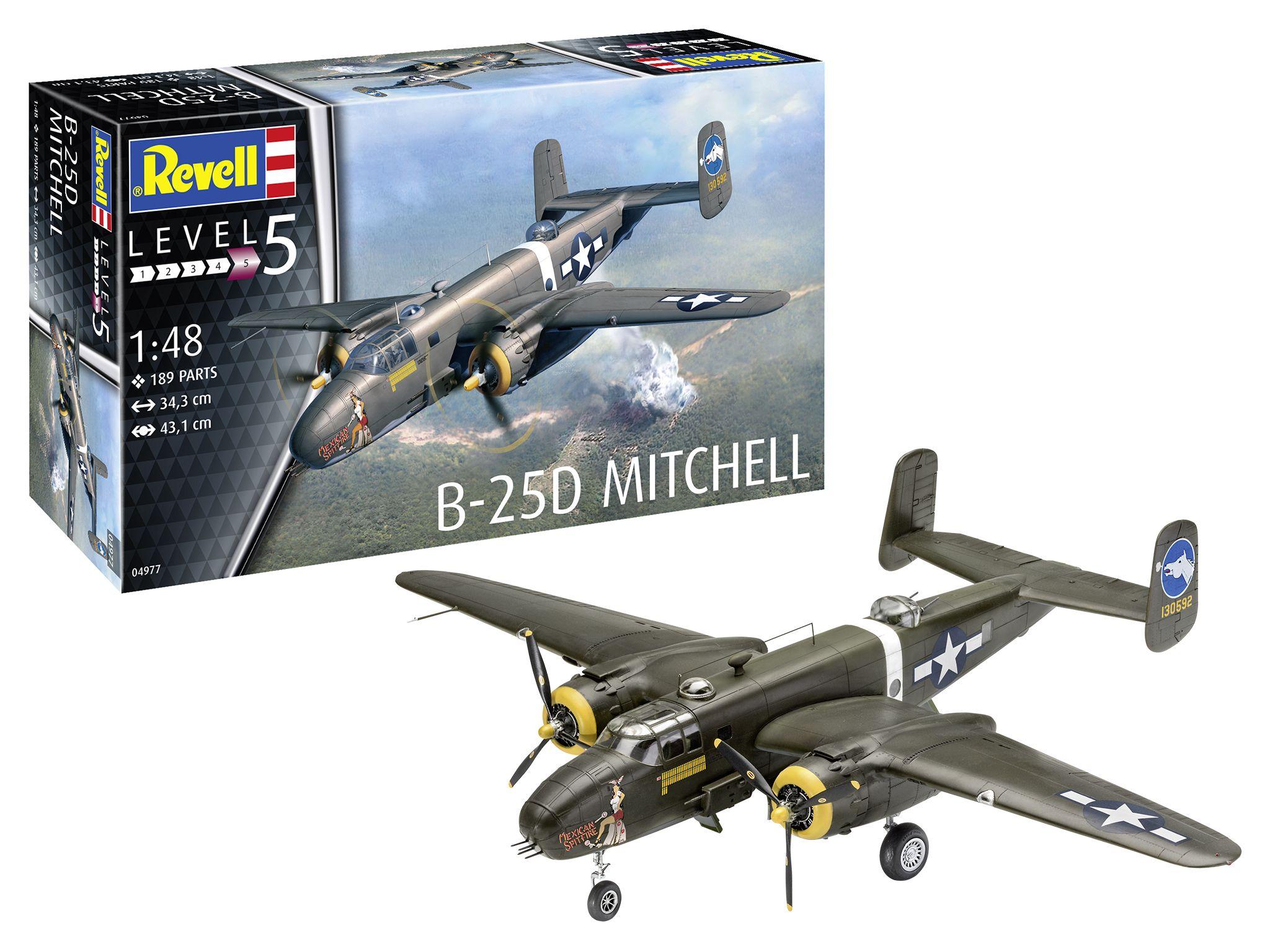 Revell B-25C D Mitchell Model Kit