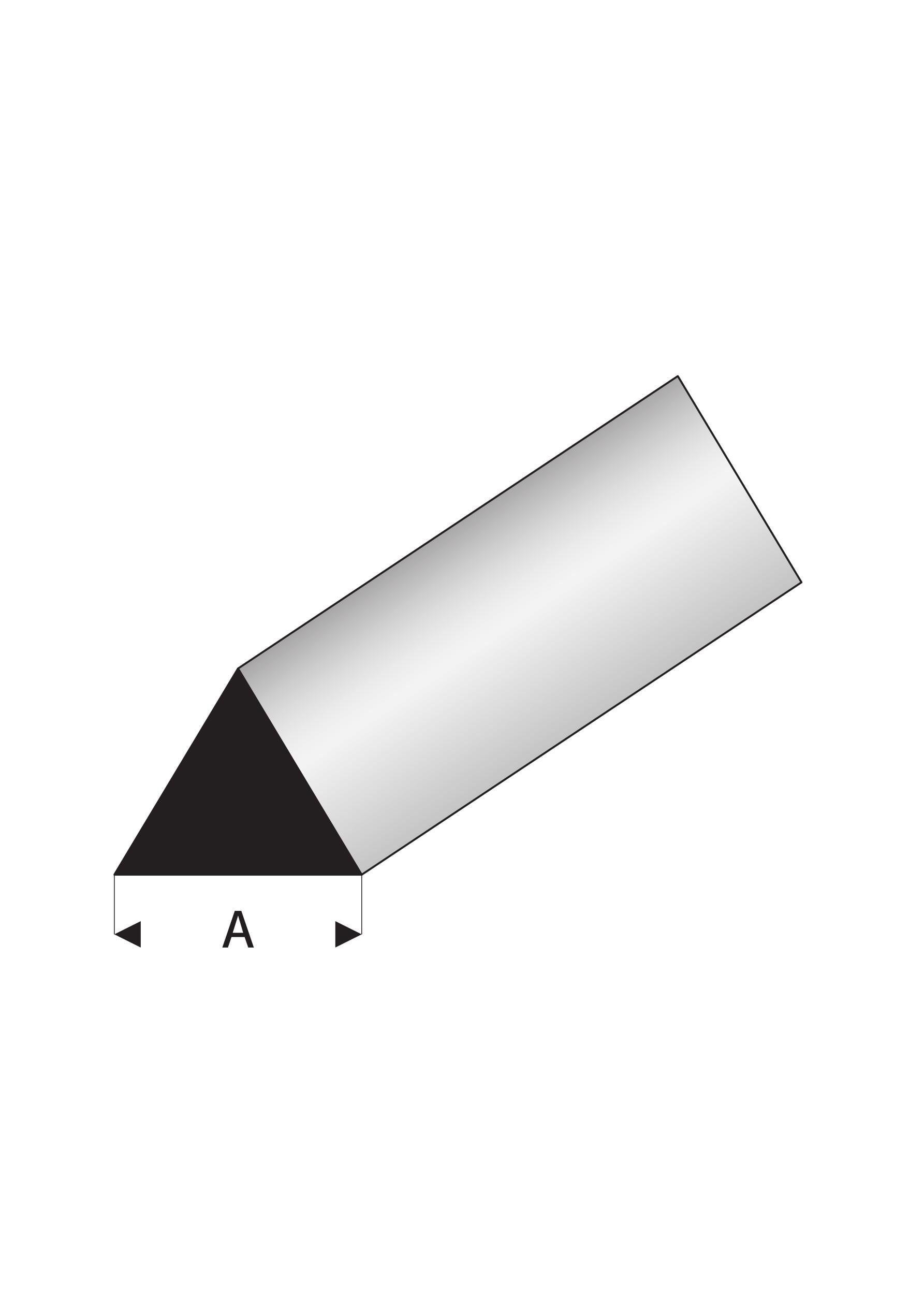 Super Styrene 60 degree Triangle Rod