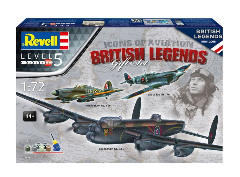Revell Icons Of Aviation British Legends Gift Set