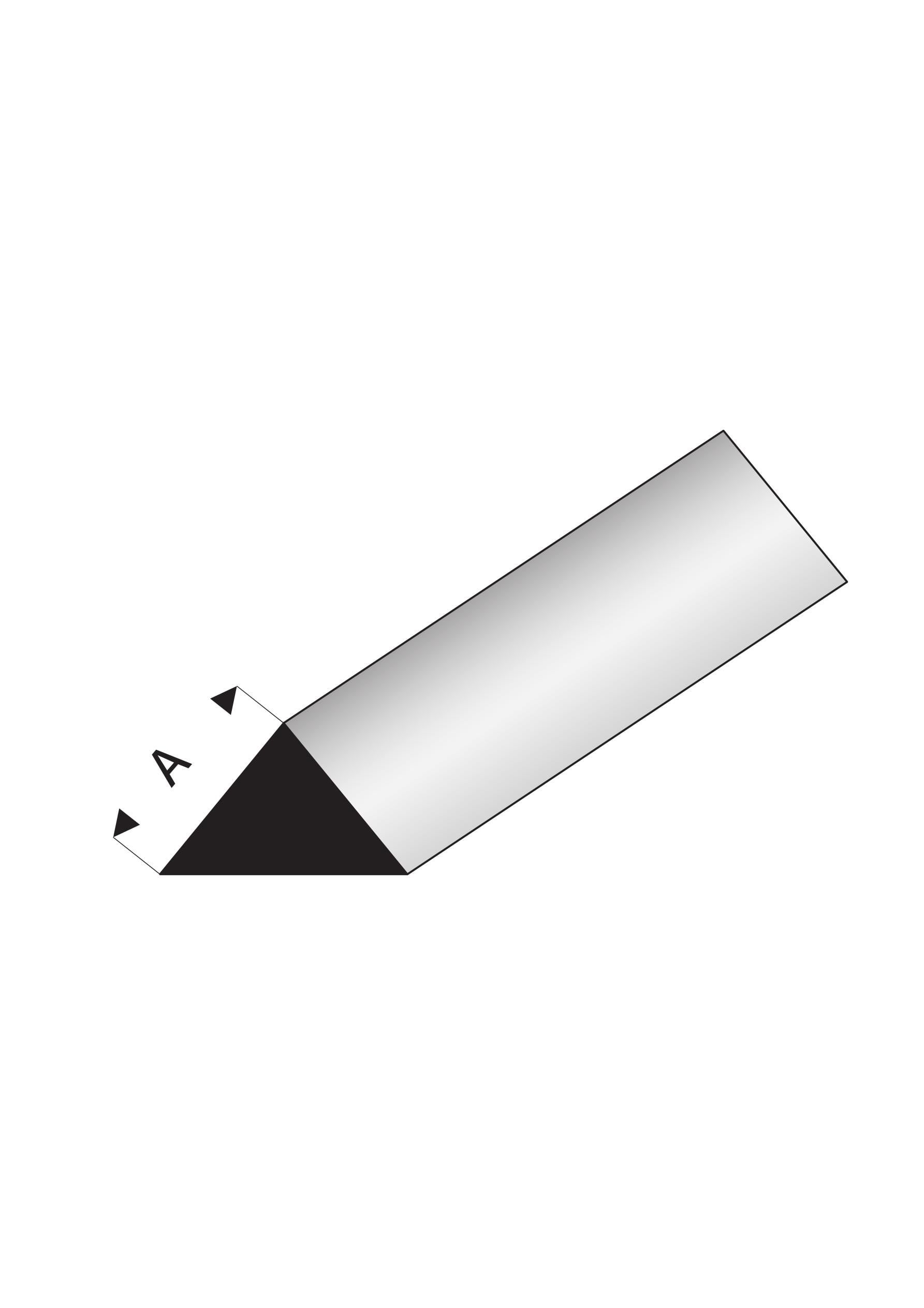 Super Styrene 90 degree Triangle Rod