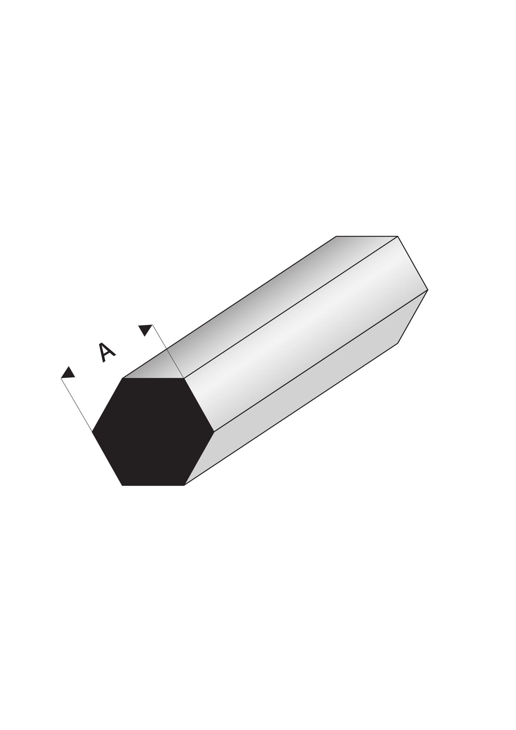 Super Styrene Hexagonal Rod