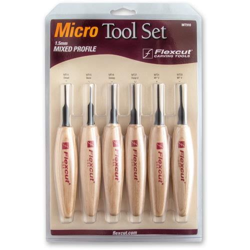 Flexcut 1.5mm Mixed Profile Micro Tool Set 6 Piece