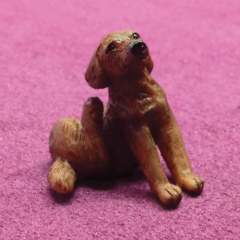 Coco the Scratching Labrador Brown Dog 1:12 Scale for Dolls House