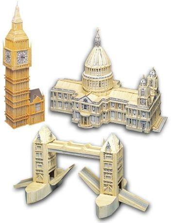 Match Craft London Pack Matchstick Kits