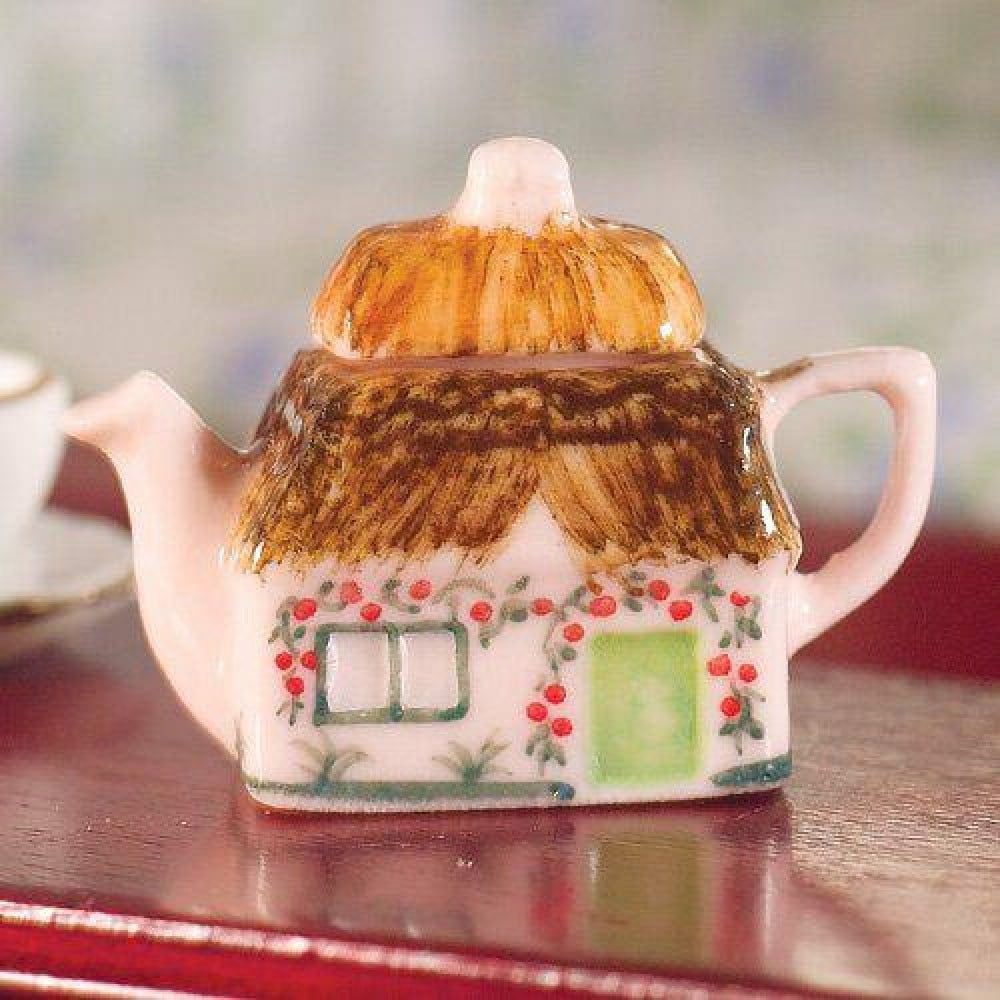 Cottage Novelty Teapot 12th Scale for Dolls House