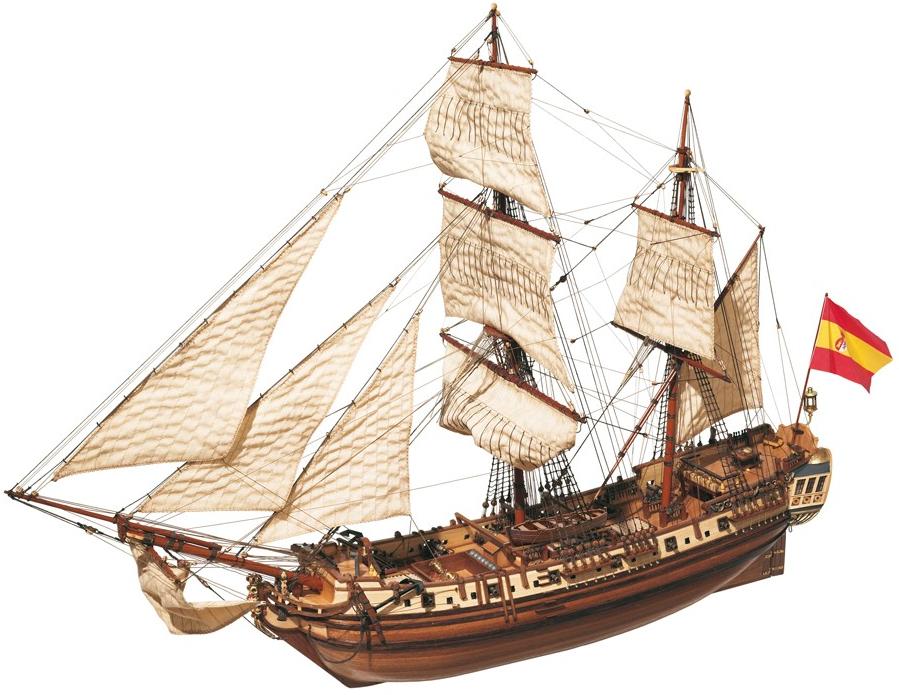 Occre La Candelaria 1:85th Scale Model Boat Display Kit