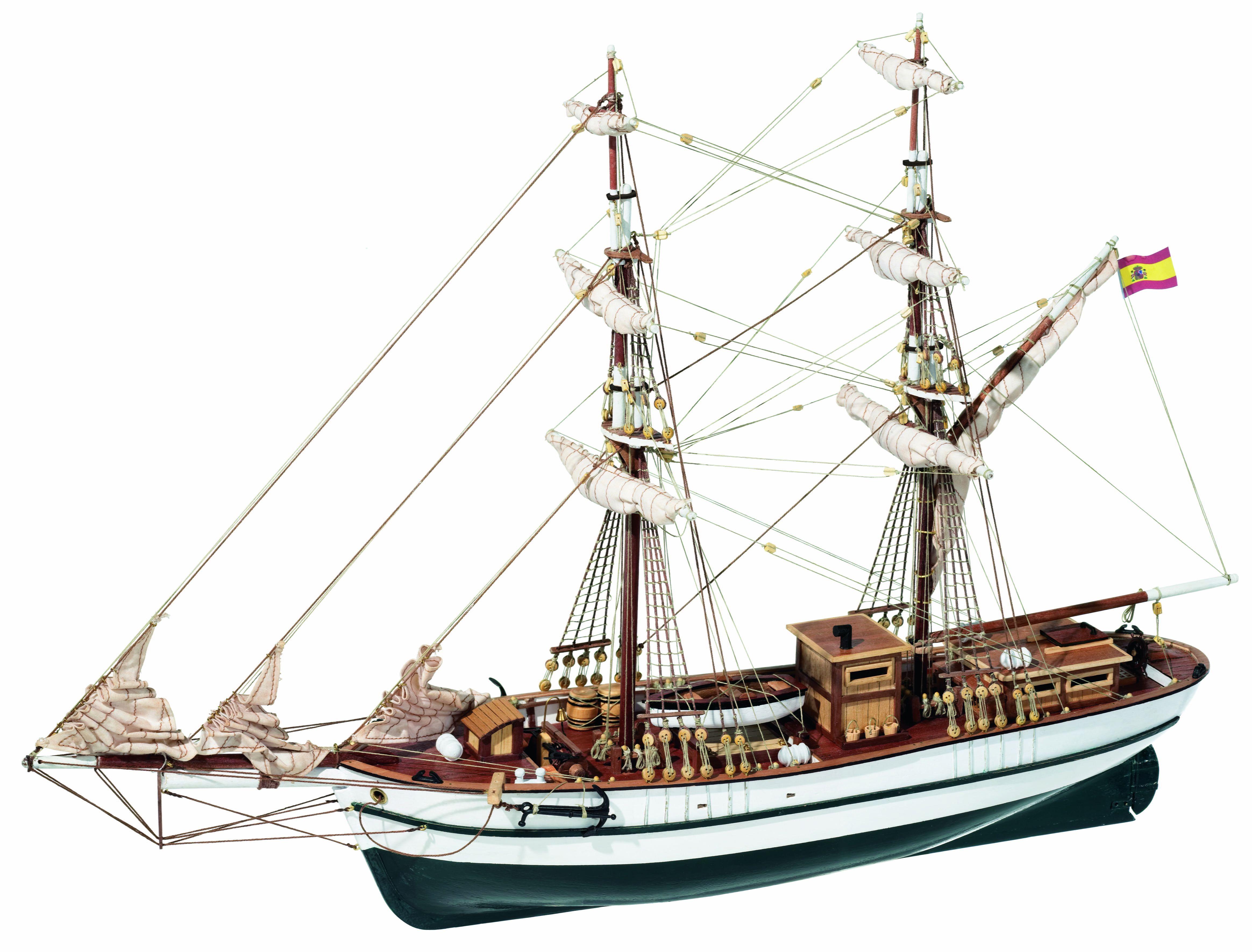 Occre Aurora Brig 1:65th Scale Model Boat Display Kit