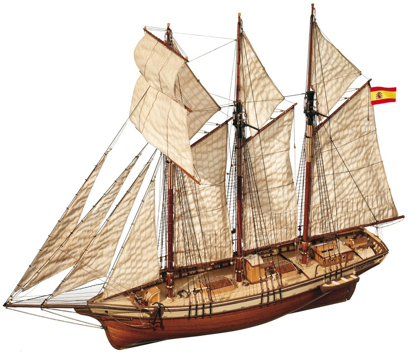 Occre Cala Esmeralda 1:58th Scale Model Boat Display Kit