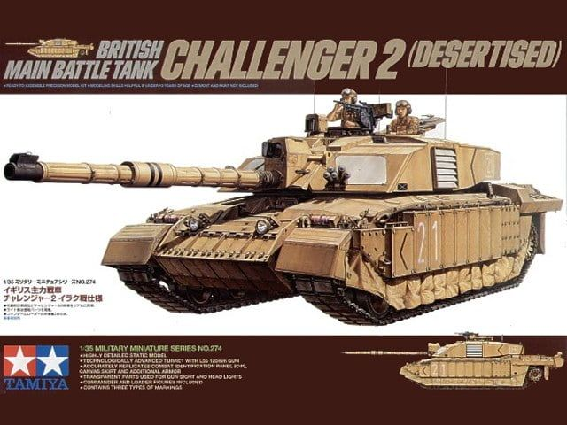 Tamiya Challenger 2 MBT Desertised 1:35 Scale Plastic Model Kit