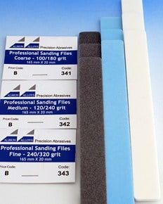 Professional Quality Sanding Files - 20mm Fine 240/320 Grit (3)