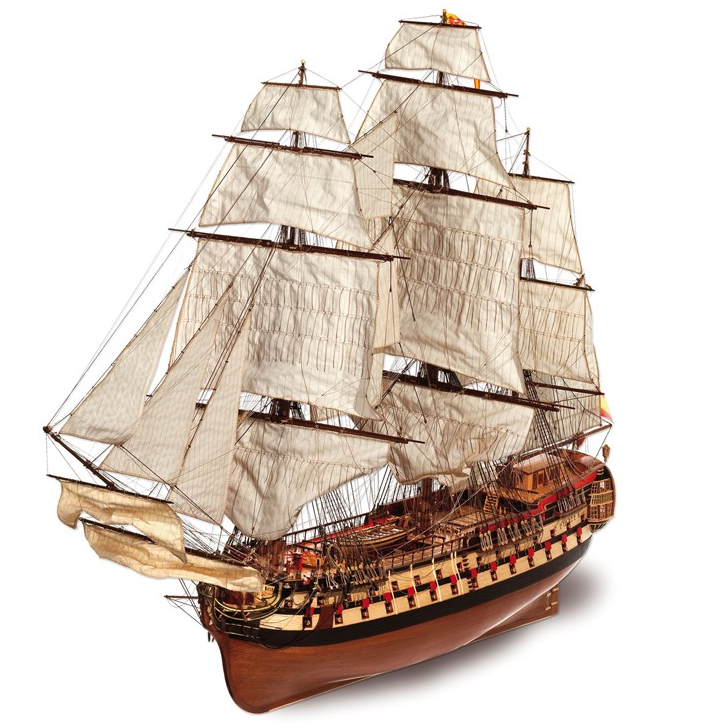 Occre Montañés Wood and Metal Model Boat 1:70 Scale Ship Kit