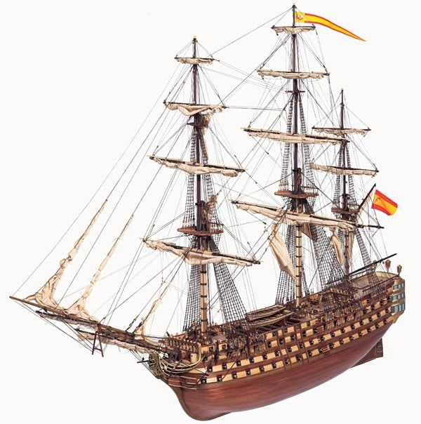 Occre Santisima Trinidad 1:90 Scale Model Ship Display Kit