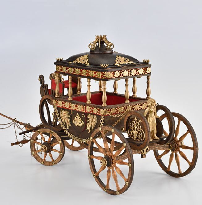 Amati Egyptian Style Royal Carriage 1819 Model Kit