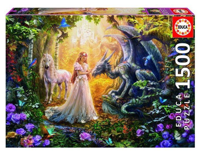 Educa Borras Dragon, Princess and Unicorn 1500 piece Jigsaw Puzzle