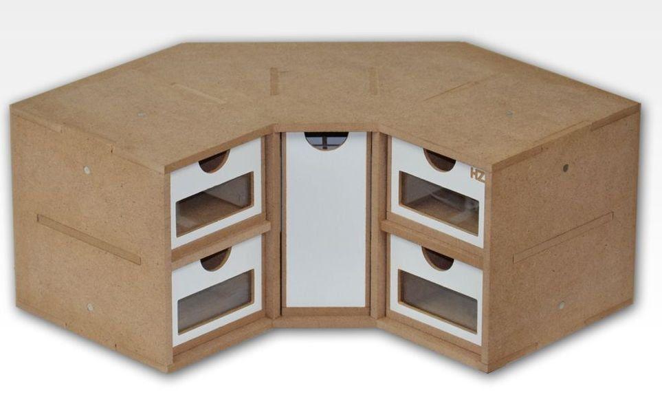 Hobbyzone Corner Drawers Module Crafts Workshop Modular System