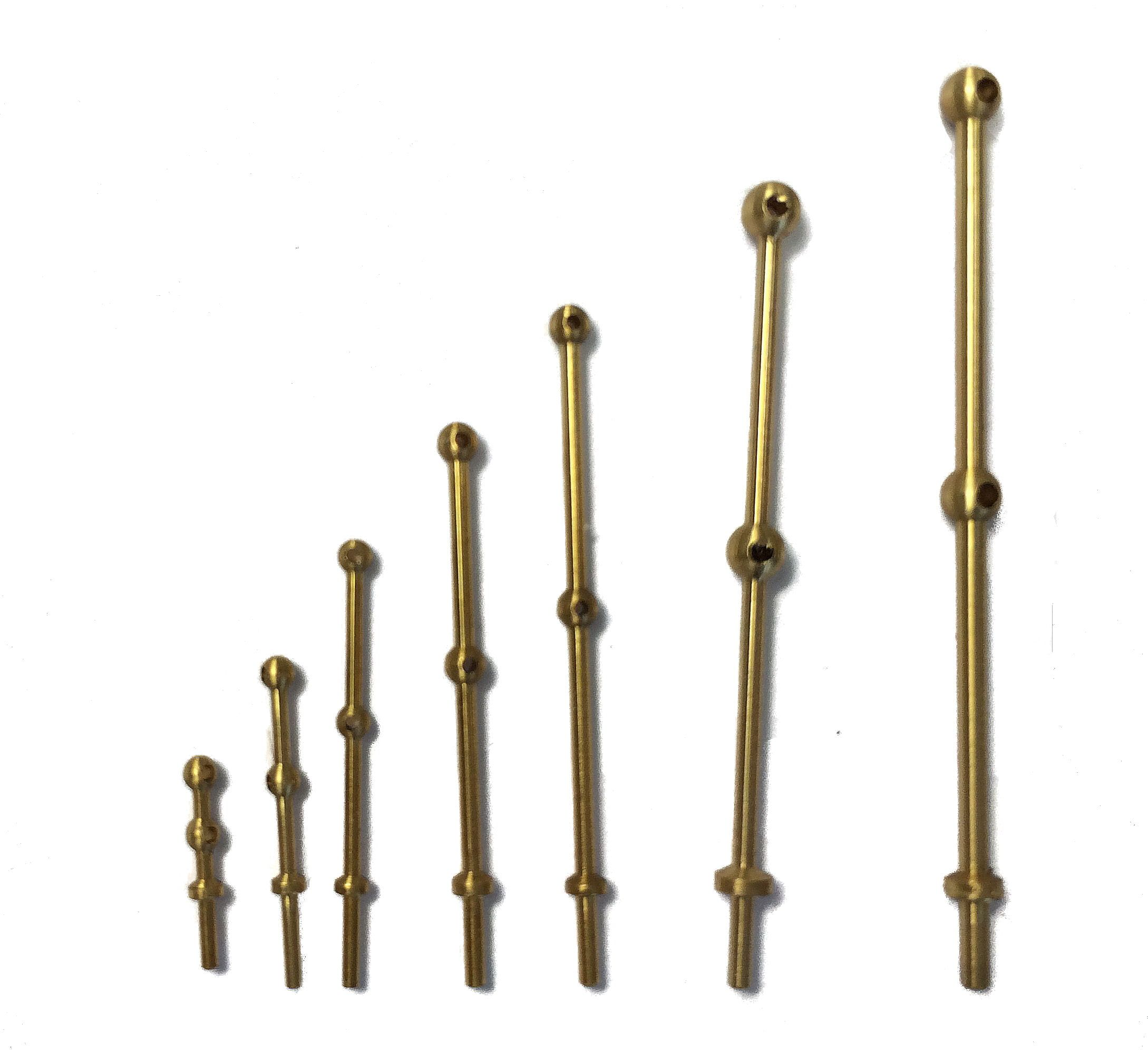 Caldercraft 2 Hole Brass Stanchions