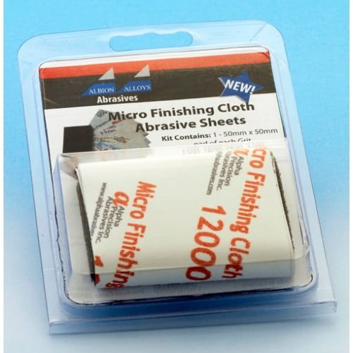 Micro Finishing Cloth Abrasive Sheets Starter 9 Pack and Refills - Refill Pack 3200 Grit (2)