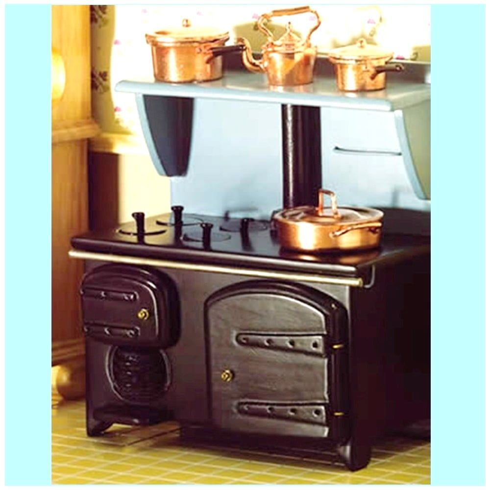 Victorian Stove with Shelf 1 12 Scale for Dolls House