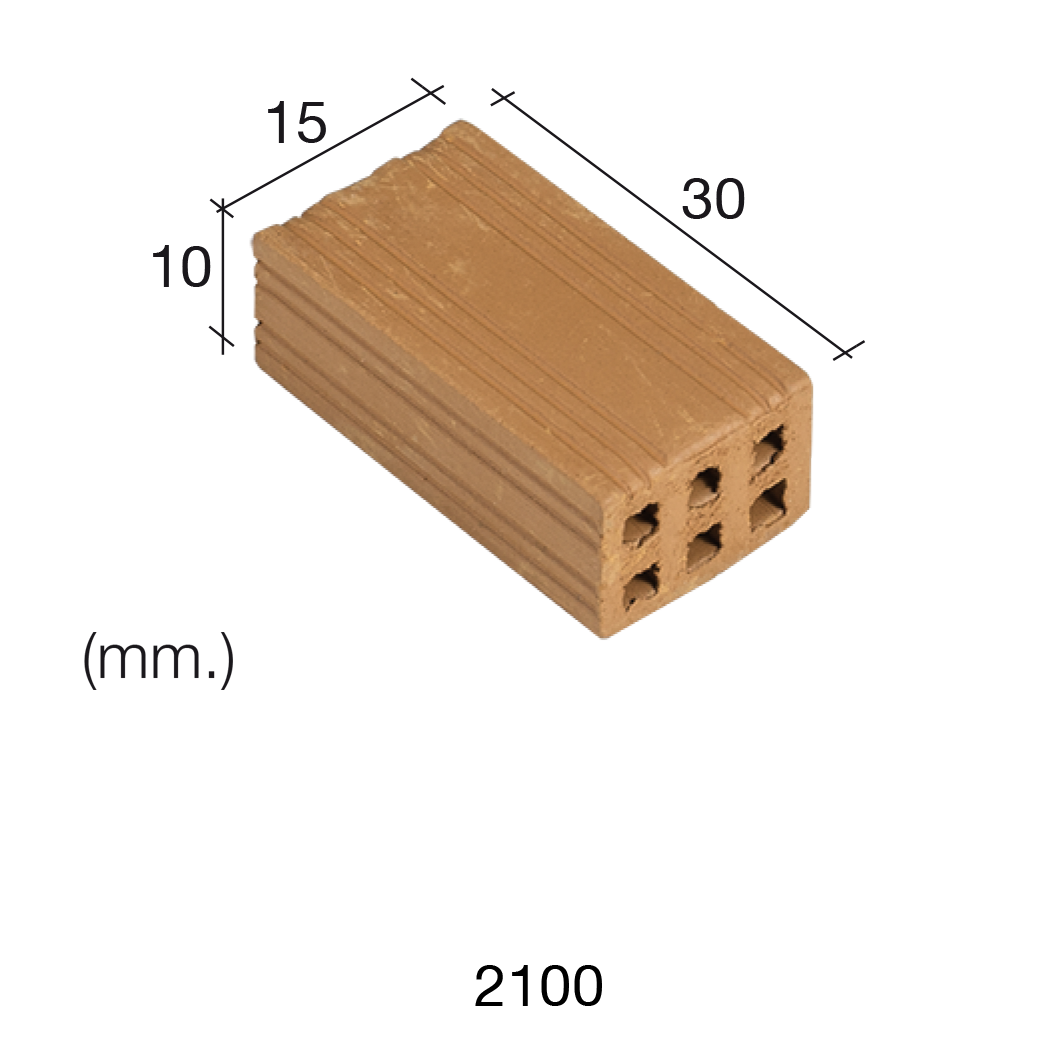 Aedes Ars Red Brick 15 x 30 x 10 (Pack of 25 Bricks)