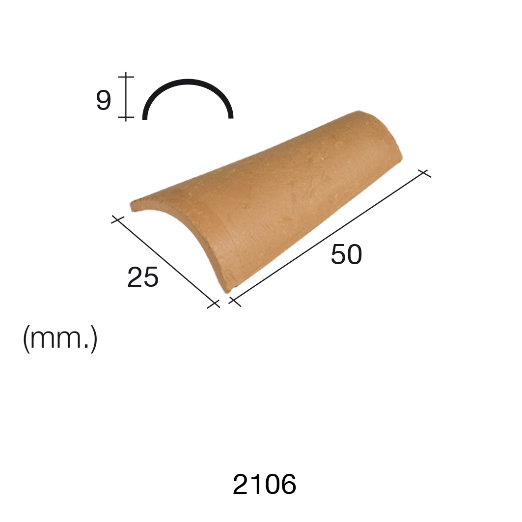 Aedes Ars Arabian Red Roof Tile 25 x 50 x 9 (Pack of 25 Tiles)