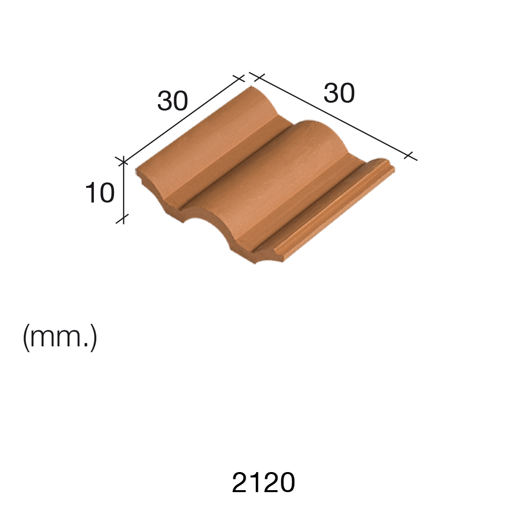Aedes Ars Flemmish Red Roof Tile 30 x 30 x 10 (Pack of 25 Tiles)