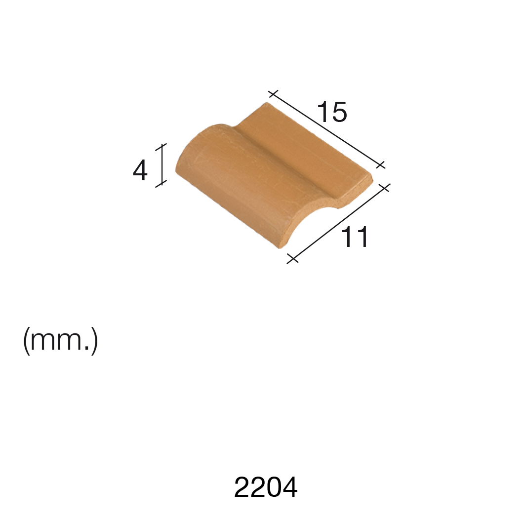 Aedes Ars Red Roof Tile 15 x 11 x 4 (Pack of 150 Tiles)