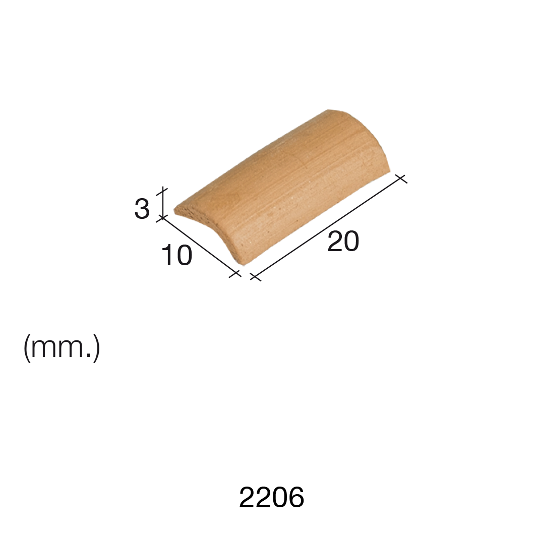 Aedes Ars Arabian Red Roof Tile 10 x 20 x 3 (Pack of 150 Tiles)