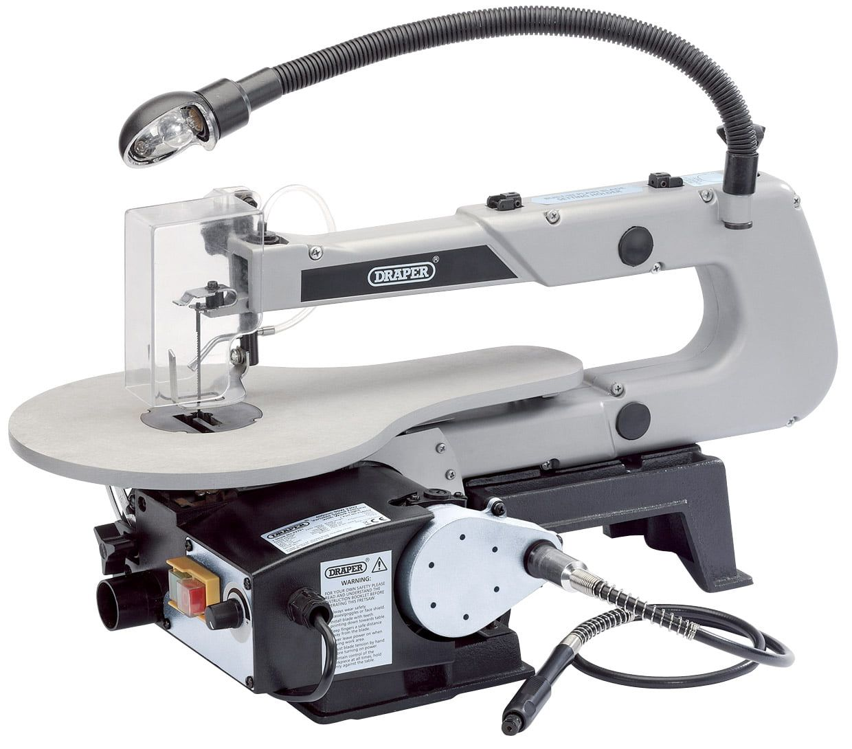Draper Variable Speed Fretsaw with Flexible Drive Shaft and Work Light
