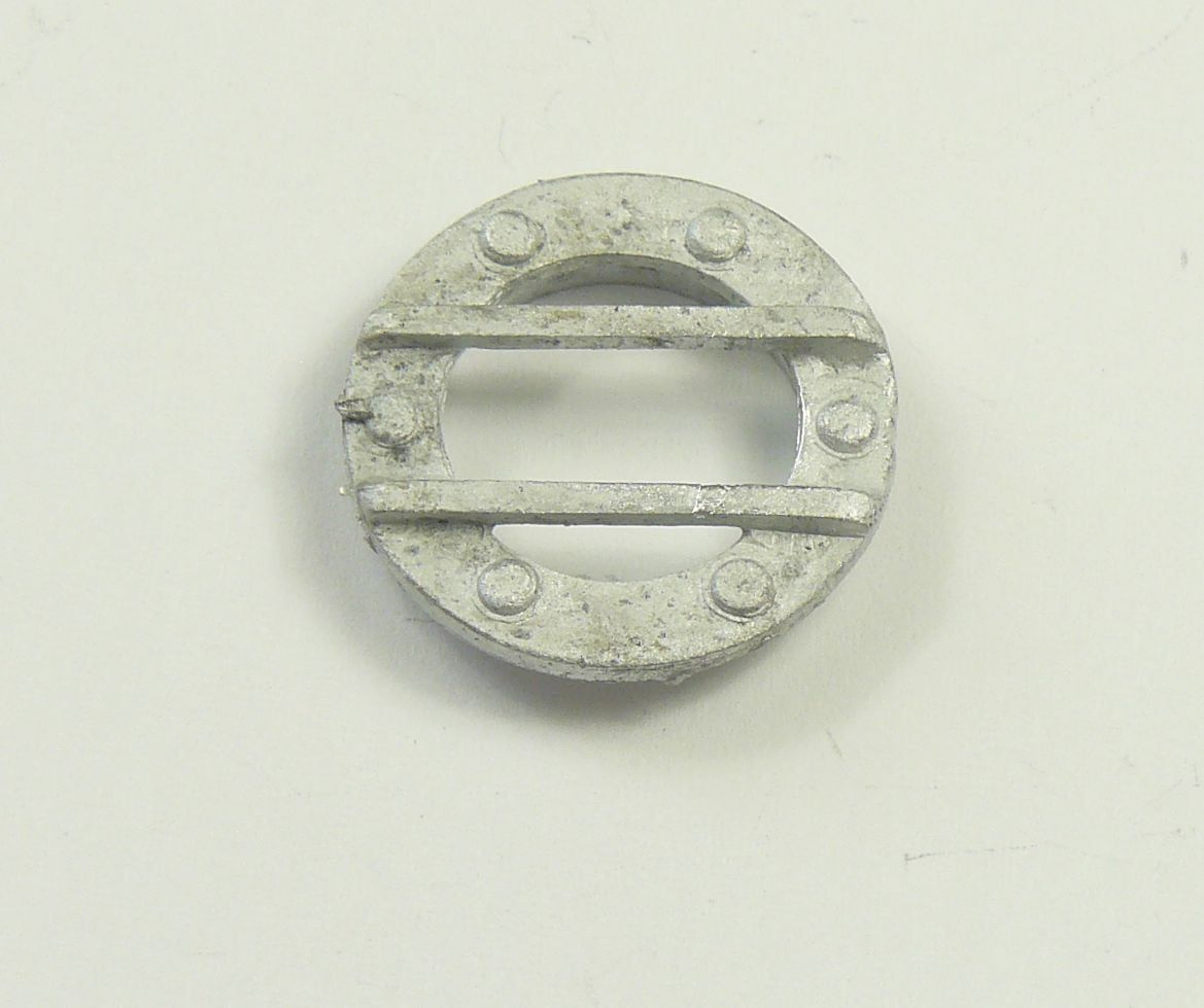 25mm Portholes x2 White Metal Model Boat Fittings