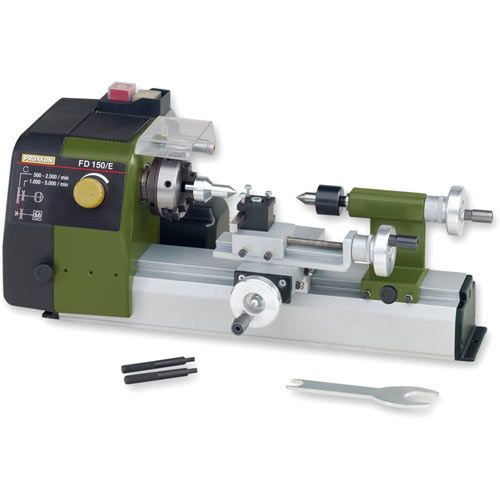 Proxxon FD 150E Metal Working Lathe 502015 - Lathe And Cutting Tool Set Deal