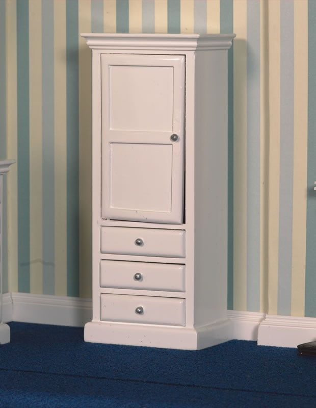 White Cupboard and Drawers