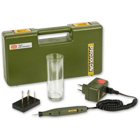 Proxxon Complete Engraving Kit with Tester Glass 12v