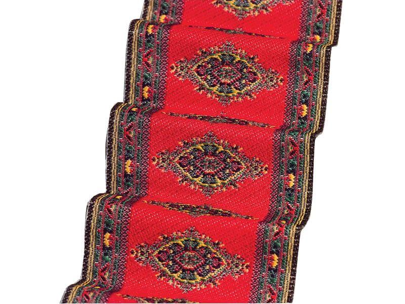 Red Motif Stair Carpet