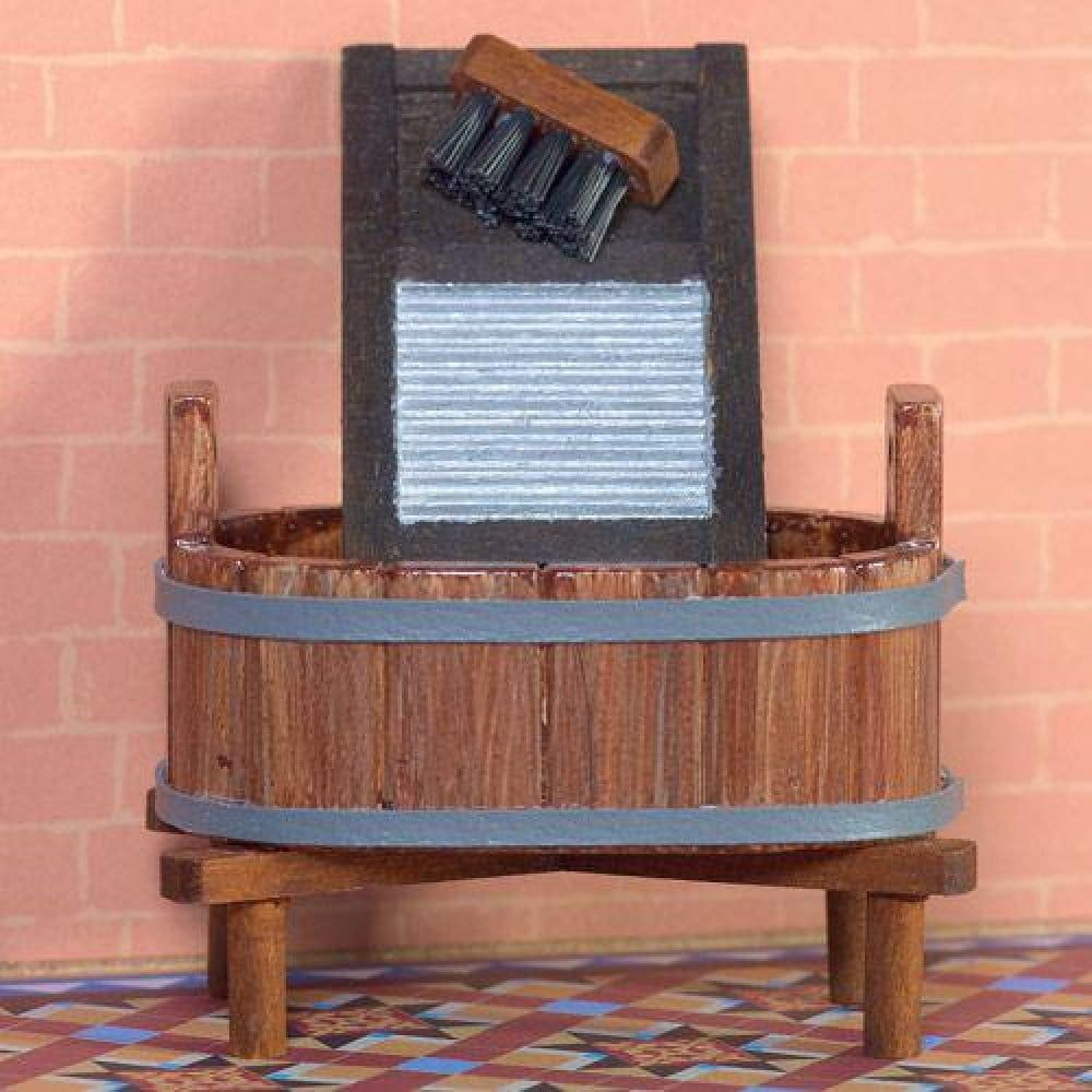 Oval Wooden Wash Tub