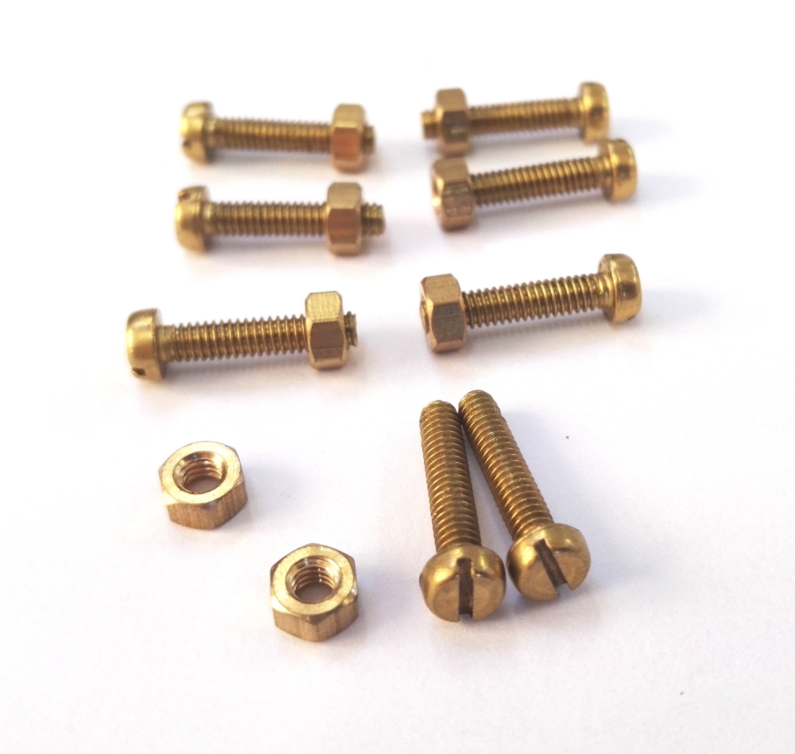 Expo Brass BA Nuts and Bolts - 10ba Counter Sunk