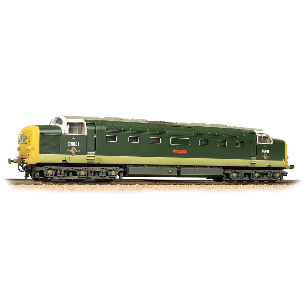 Class 55 D9001 'St. Paddy' BR Two-Tone Green Full Yellow Ends Weathered