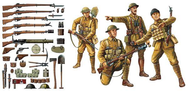 Tamiya WW1 British Infantry With Accessories