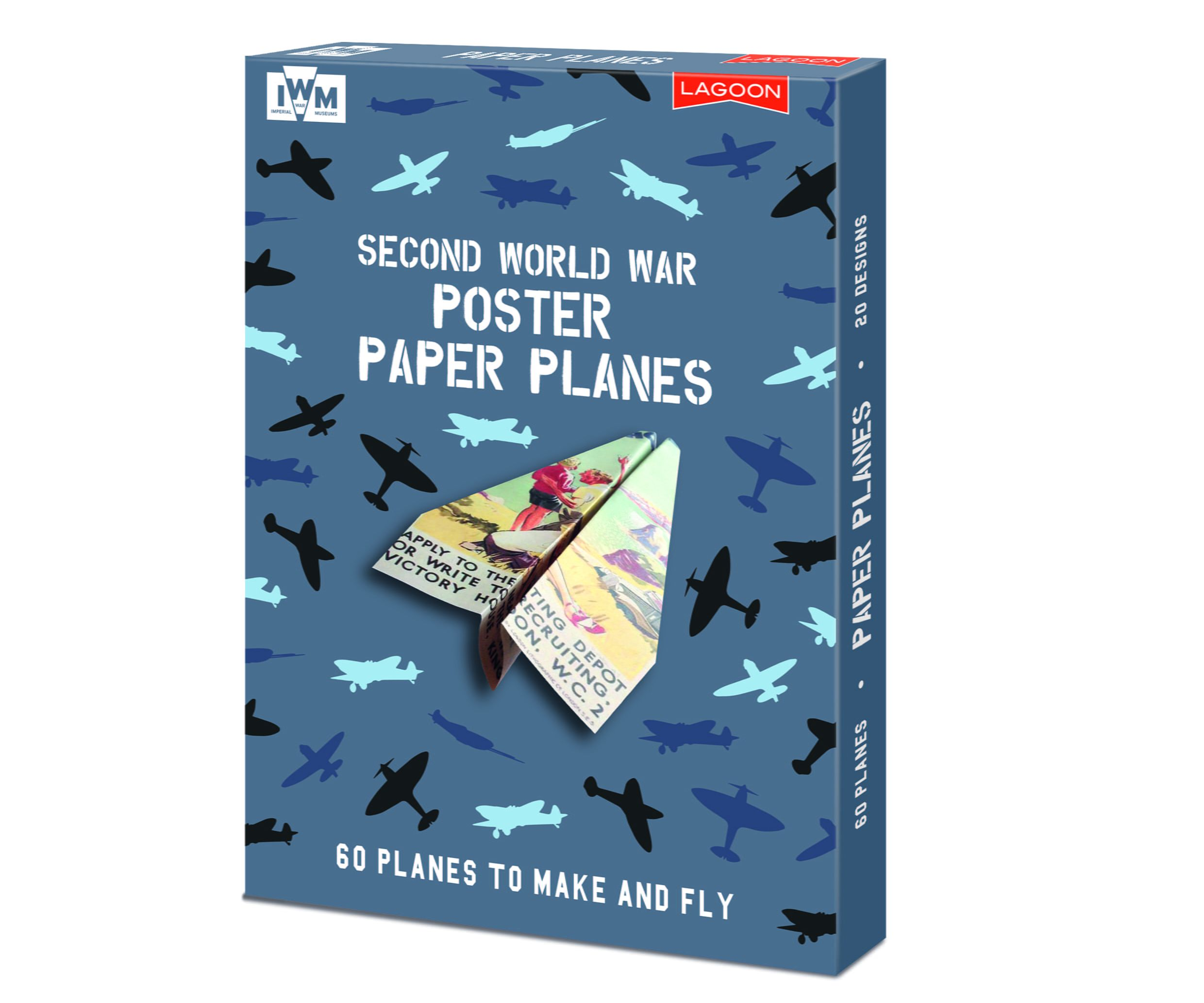 60 WWII Poster Paper Plane Kit