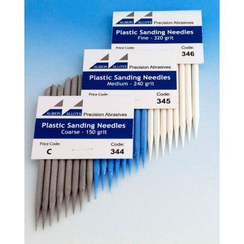 Plastic Sanding Needles Various Grades - Assortment Pack Of 6