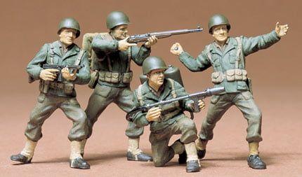 Tamiya US Army Infantry 1:35 Scale Plastic Figures