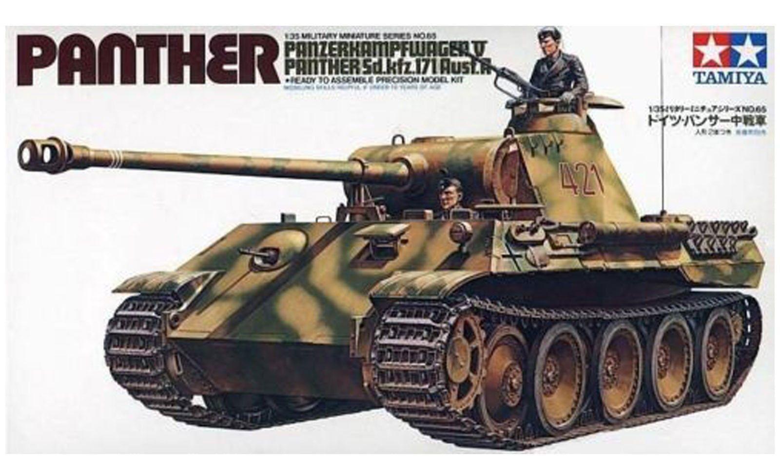 Tamiya German Panther Medium Tank 35th Scale Plastic Kit