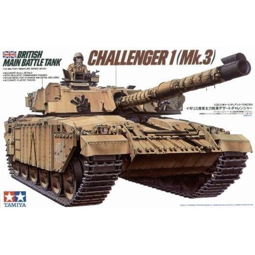 Tamiya Challenger 1 (Mk.3) British Main Battle Tank 1:35 Scale Plastic Model Kit